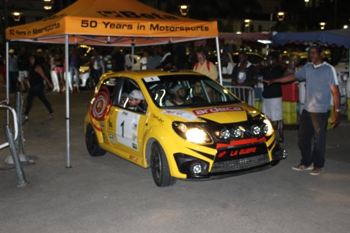 Arrivée du Rallye Madinina 2018 - Steeven Orosemane et Thomas Zeline