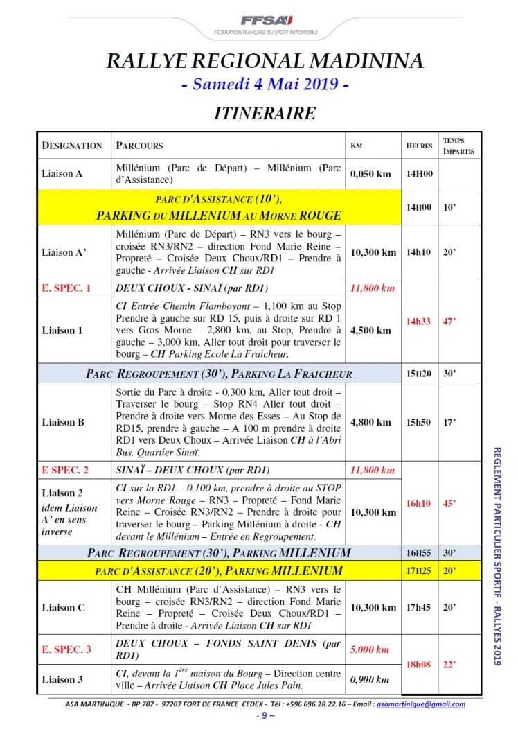 Horaires 1