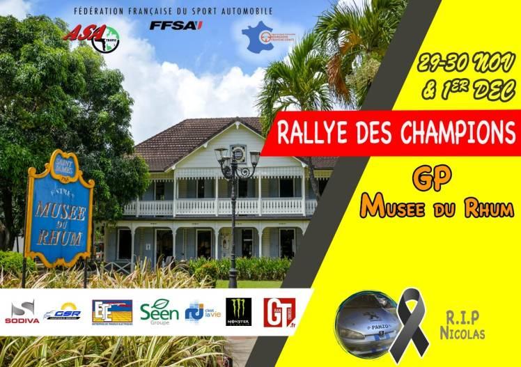 Flyer Rallye des Champions 2019